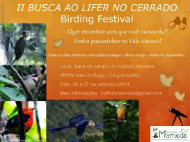Eventos: Busca ao Lifer, 6-7set2014, Corguinho – MS, por Instituto Mamede